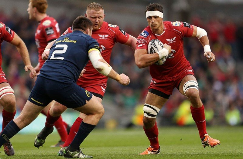 Aaron in action against Munster