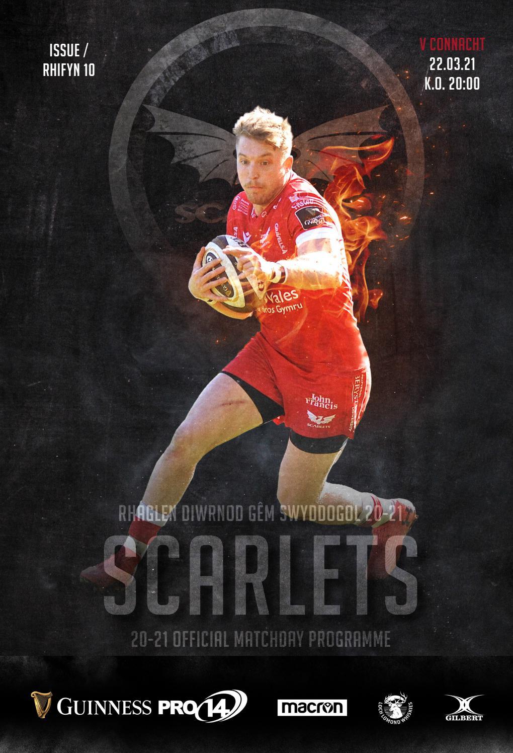 Scarlets v Connachht Matchday Program